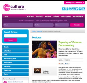 Tapestry of Colours - Culture NI Article