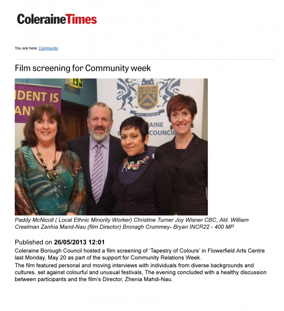 Film screening for Community week - Community - Coleraine Times